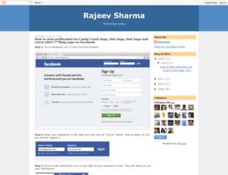 blog.rajeevsharma.in screenshot