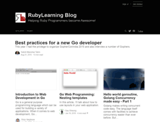 blog.rubylearning.com screenshot