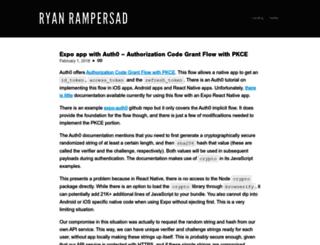 blog.ryanrampersad.com screenshot