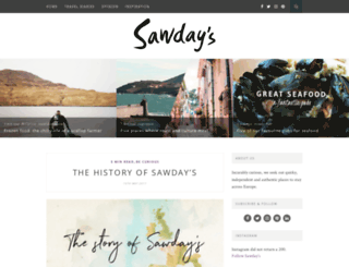 blog.sawdays.co.uk screenshot