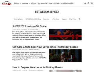 blog.sheex.com screenshot