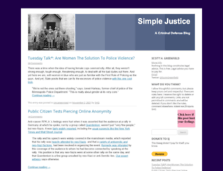 blog.simplejustice.us screenshot