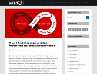 blog.skyhost.com.br screenshot