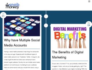blog.snobmonkey.com screenshot