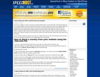 blog.speedhost.in screenshot