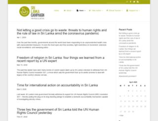 blog.srilankacampaign.org screenshot
