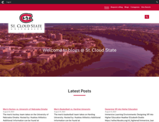 blog.stcloudstate.edu screenshot