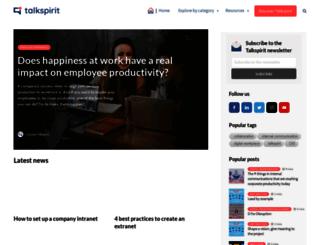 blog.talkspirit.com screenshot