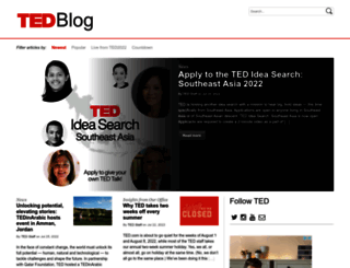 blog.ted.com screenshot