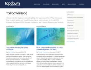 blog.topdownconsulting.com screenshot