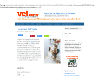 blog.vetdepot.com screenshot