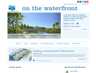 blog.waterfrontoronto.ca screenshot