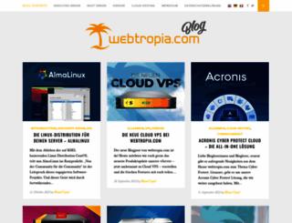 blog.webtropia.com screenshot