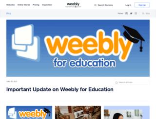 blog.weebly.com screenshot
