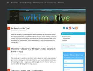 blog.wikimotive.com screenshot