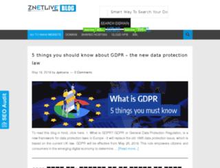 blog.znetlive.com screenshot