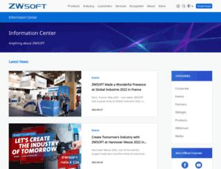 blog.zwsoft.com screenshot