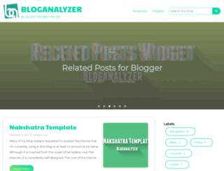 bloganalyzer.blogspot.com screenshot