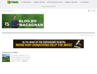 blogdomacagnan.final.com.br screenshot