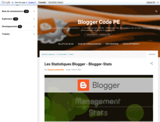 bloggercode-blogconnexion.blogspot.fr screenshot
