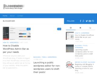 bloggeriser.com screenshot