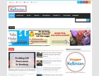 bloggerkekinian.com screenshot