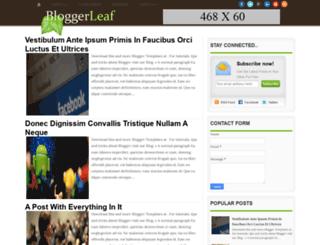 bloggerleaf.blogspot.in screenshot
