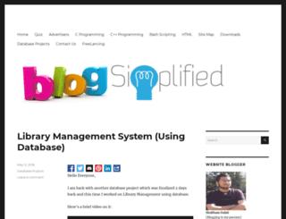 bloggingsimplified.in screenshot