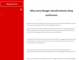 bloggybootcamp.com screenshot