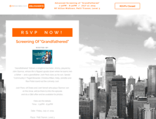 bloghergrandfathered.splashthat.com screenshot