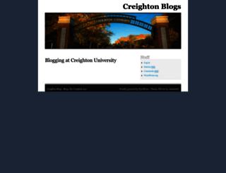 blogs.creighton.edu screenshot