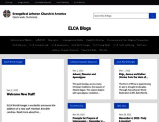 blogs.elca.org screenshot
