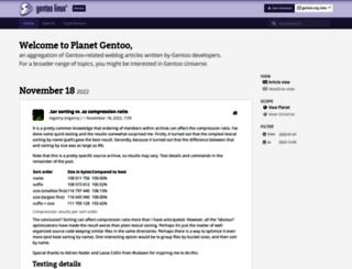 blogs.gentoo.org screenshot