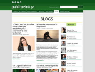 blogs.publimetro.pe screenshot