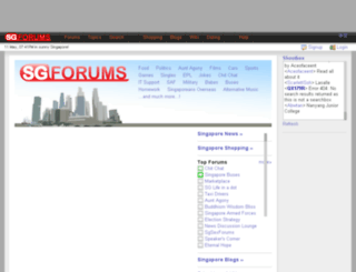 blogs.sgforums.com screenshot