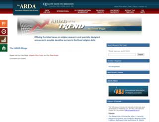 blogs.thearda.com screenshot