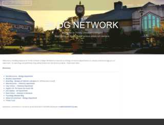 blogs.trnty.edu screenshot