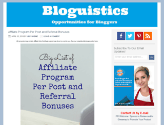 bloguistics.com screenshot
