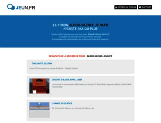 blood-silence.jeun.fr screenshot
