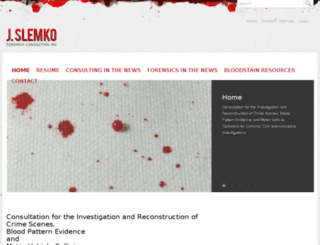 bloodspatter.com screenshot