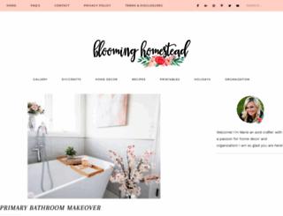 bloominghomestead.com screenshot