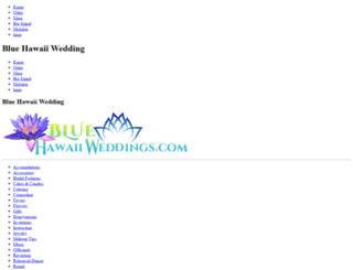 bluehawaiiweddings.com screenshot