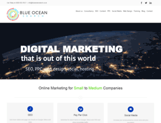 blueoceansearch.co.uk screenshot