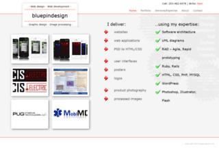 bluepindesign.com screenshot
