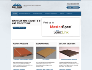 blueridgefiberboard.com screenshot