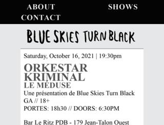 blueskiesturnblack.com screenshot