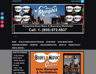 bluesmusicmagazine.com screenshot