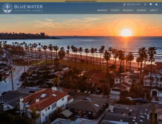 bluewatervacationhomes.com screenshot