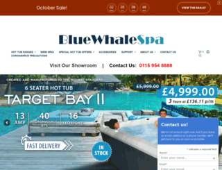 bluewhalespa.com screenshot