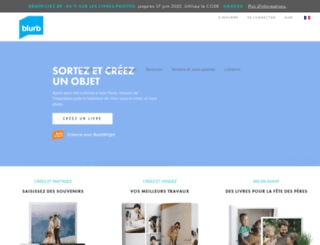 blurb.fr screenshot